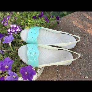 Crocs Isabelle Slingback mini wedges (Ice Blue)